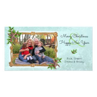 Nautical Christmas on the Coast Starfish Splash Photo Card