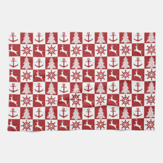 Nautical Christmas Tea Towel