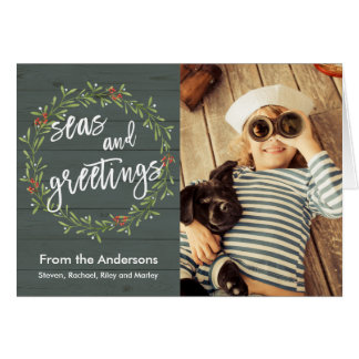 Nautical Christmas with Your Photo Card