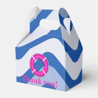 Nautical coastal beach girly pink favor boxes