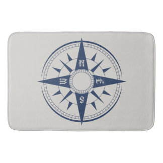 Nautical Compass Bath Mats