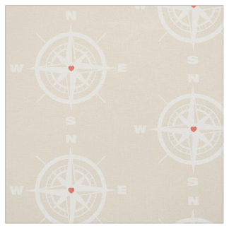 Nautical compass fabric