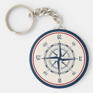 Nautical Compass Key Ring