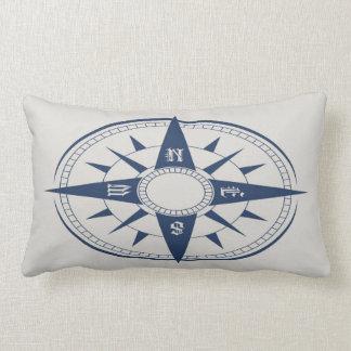 Nautical Compass Lumbar Pillow Throw Cushion