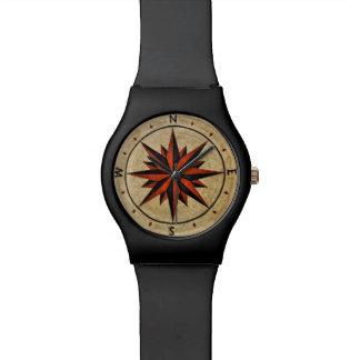 Nautical Compass Mosaic Decor Watches
