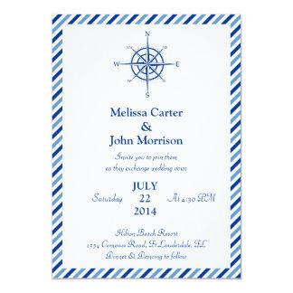 Nautical Compass Wedding Invitation