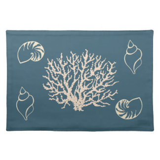 Nautical Coral Seashells Placemat