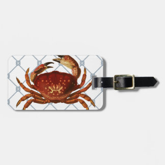 Nautical Crab Luggage Tag