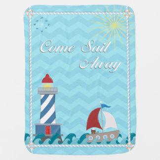 Nautical *Customisable* Sail Away *Daytime* Buggy Blanket