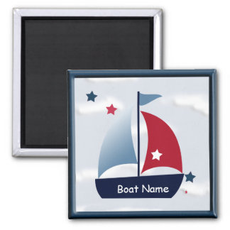 Nautical Cute Sailboat Design Magnet