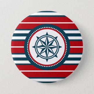 Nautical design 7.5 cm round badge
