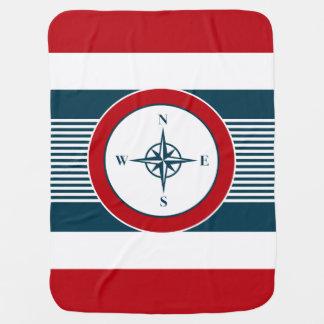 Nautical design baby blanket