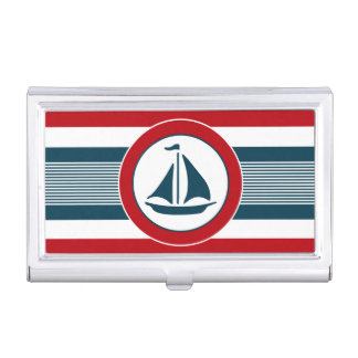Nautical design business card holder