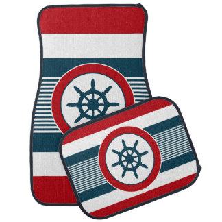 Nautical design car mat