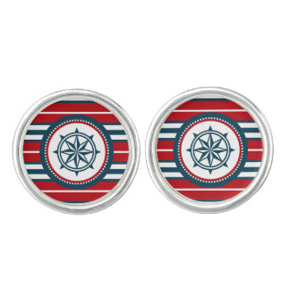 Nautical design cuff links