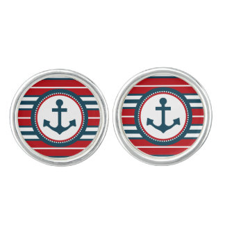 Nautical design cufflinks