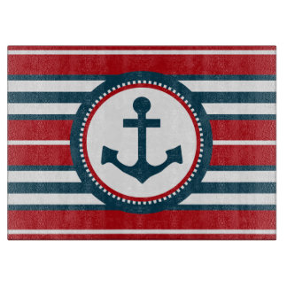Nautical design cutting board