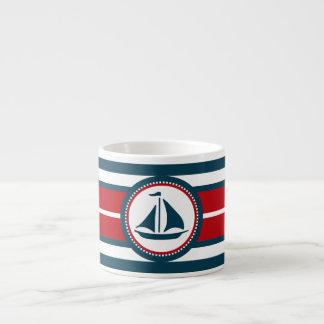 Nautical design espresso cup