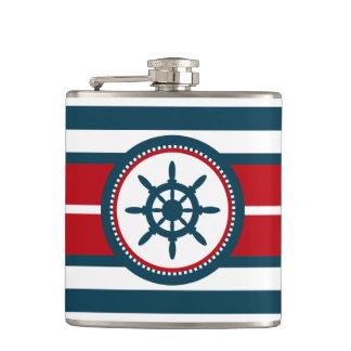 Nautical design hip flask