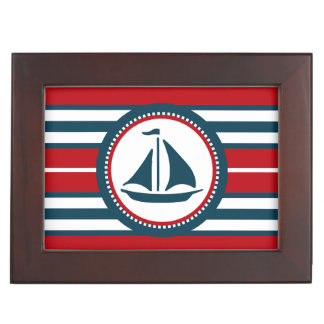 Nautical design keepsake boxes
