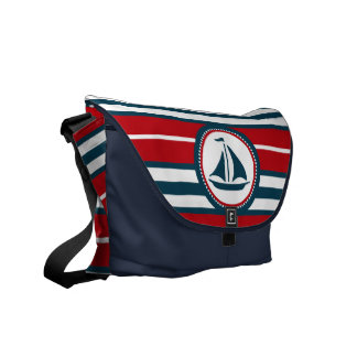 Nautical design messenger bag