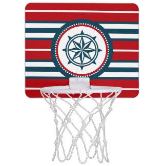 Nautical design mini basketball hoop