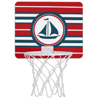 Nautical design mini basketball hoop