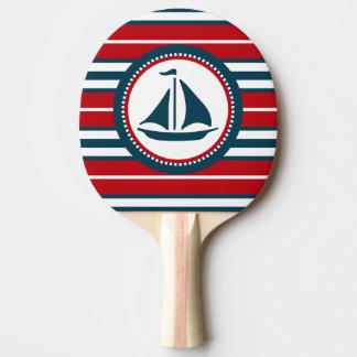 Nautical design ping pong paddle