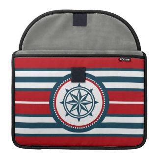 Nautical design sleeve for MacBook pro