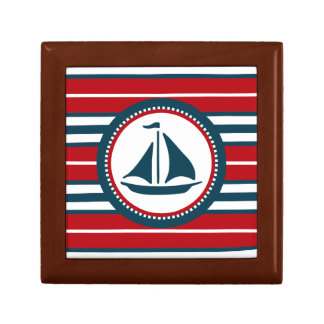 Nautical design small square gift box