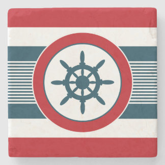 Nautical design stone coaster