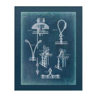 Nautical Detail Blueprint IV Acrylic Wall Art