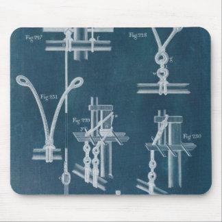 Nautical Detail Blueprint IV Mouse Pad