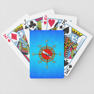 Nautical Dive Compass Bicycle Playing Cards