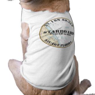 Nautical Dog Nautical Downtown Stuart Florida Sleeveless Dog Shirt