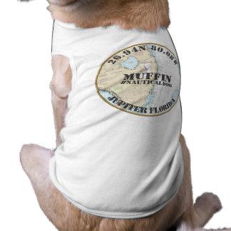 Nautical Dog Nautical Jupiter Florida Sleeveless Dog Shirt