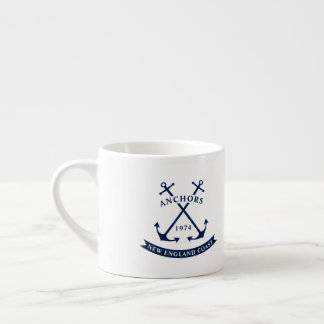 Nautical Espresso Mug with Anchors - Customizable