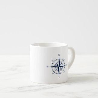 Nautical Espresso Mug with Blue Nautical Star