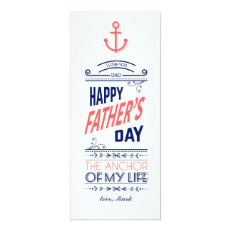 Nautical Father's Day Card 10 Cm X 24 Cm Invitation Card
