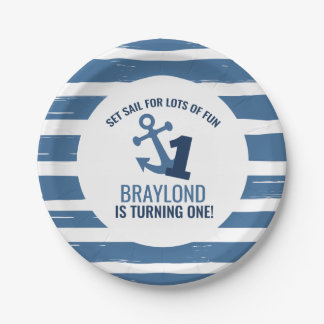 Nautical First Birthday Paper Plates