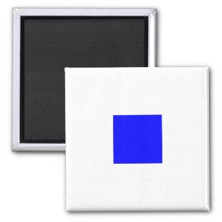 Nautical Flag Alphabet Sign Letter S (Sierra) Square Magnet