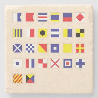 Nautical Flag Chart Stone Coaster