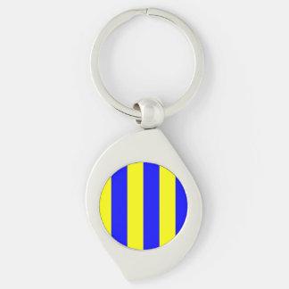 Nautical Flag Letter G (Golf) Key Ring