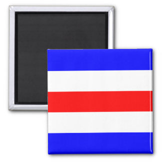Nautical Flag Signal Letter C (Charlie) Square Magnet