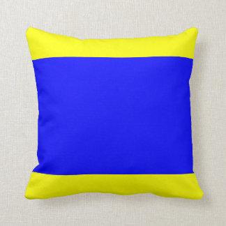 Nautical Flag Signal Letter D (Delta) Cushion