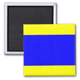 Nautical Flag Signal Letter D (Delta) Square Magnet