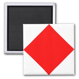 Nautical Flag Signal Letter F (Foxtrot) Square Magnet
