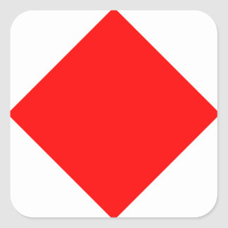 Nautical Flag Signal Letter F (Foxtrot) Square Sticker