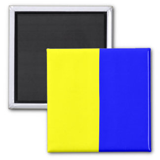 Nautical Flag Signal Letter K (Kilo) Magnet