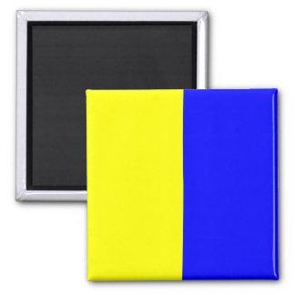 Nautical Flag Signal Letter K (Kilo) Square Magnet